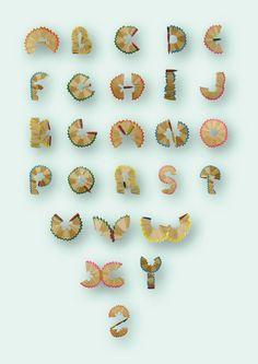 pencil shavings font, Vic Kalo