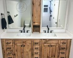 Bathroom decor for the bathroom remodel. Learn bathroom organization, master bathroom decor a few ideas, master bathroom tile suggestions, master bathroom paint colors, and much more. Bathroom Renos, Bathroom Cabinets, Bathroom Ideas, Bathroom Organization, Bathroom Storage, Bathroom Inspiration, Bathroom Cleaning, Bathroom Designs, Shower Ideas