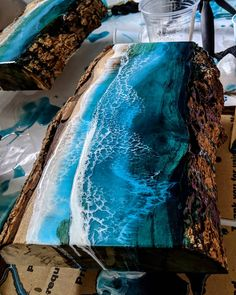 No image description available. – arte – epoxy resin – New Epoxy Diy Resin Table, Epoxy Wood Table, Epoxy Resin Table, Epoxy Resin Art, Resin Furniture, Cool Furniture, Diy Resin Crafts, Wood Crafts, Stick Crafts