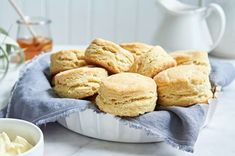 Buttery Sourdough Sandwich Biscuits made with discarded sourdough starter Gluten Free Biscuits, Gluten Free Baking, King Arthur Gluten Free Biscuit Recipe, Gf Recipes, Gluten Free Recipes, Flour Recipes, Recipes Dinner, Brunch Recipes, Dinner Ideas
