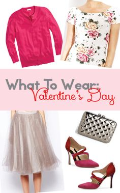 What To Wear: Valentine's Day Outfit #tulle #tulleskirt #red #pink #floral #metallic