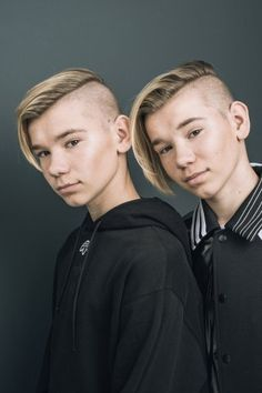 Marcus and Martinus Manado, Instagram 2017, Swag Boys, Cute Twins, Undercut Hairstyles, Undercut Pompadour, Mens Hair Trends, Bald Fade, Comb Over