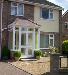 The design possibilities for your porch are huge, choose from our cast range of front doors that are available in a variety of colours as well as choosing the size and shape of the windows that come with a standardised B energy rating.