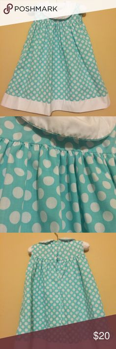 Lolly Wolly Doodle Turquoise and White Dress This dress is perfect and screaming for a monogram! Worn and laundered only once! The color is beautiful...a soft turquoise. Fits true to size. I welcome offers and bundles! Sorry, no trades! Lolly Wolly Doodle Dresses