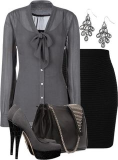 Gray & black...punch it up with a splash of color in the accessories.