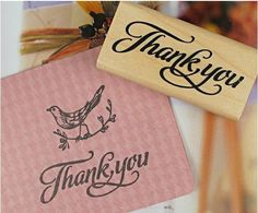 1 Pcs/pack DIY Cute Kawaii Stamp Wood Thank You Clear Stamps For Scrapbooking Rubber Decoration Stamps Stationery#pcs
