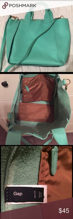Gap - Mint Cross body Bag In perfect condition. I have probably only worn once or twice. I wanted to be spontaneous and buy a fun colored bag, but I prefer neutral/smaller purses. Happy to answer any questions! GAP Bags Crossbody Bags