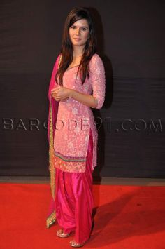 Pink patiala suit