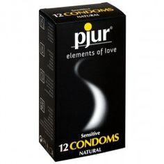 Prezerwatywy bardzo cienkie - Pjur Sensitive Condoms 12 szt