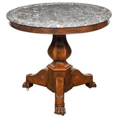 French Empire Period Marble-Top Gueridon | See more antique and modern Gueridon at http://www.1stdibs.com/furniture/tables/gueridon