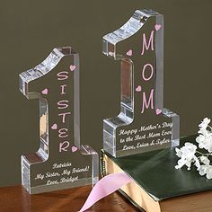 Mothers Day Gifts:  #1 Mom Personalized Keepsake Gift - Add any title and your own message.  Great for Mom or Grandma!