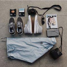 Weekend travel essentials, by @ashleyosborn