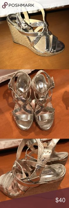 Michael Kors Silver Wedges! Great Condition! Michael Kors Silver Wedges! Great Condition! Michael Kors Shoes Wedges