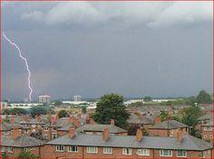 Lightening 3. Newton Heath. Manchester. UK. By Tony Cordingley