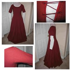 side-lacing kirtle -- see how it's worn over the under dress...some researchers suggest that most women wouldn't have gone out in public like that because the under dress is basically like your slip.