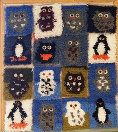 Rya Rug, Textiles, Sewing Class, Classroom Activities, Rug Hooking, Needle And Thread, Projects For Kids, Fiber Art, Needlework