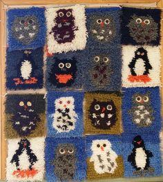 Katja Puoskari/ Alakoulun aarreaitta Rya Rug, Textiles, Sewing Class, Classroom Activities, Rug Hooking, Needle And Thread, Projects For Kids, Fiber Art, Needlework