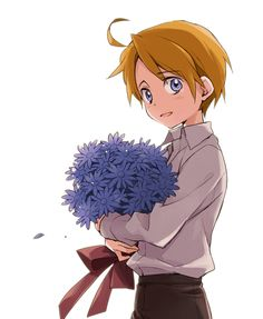 Little!America!! (Those flowers are for davie awww read the comic of them and cry like never before)
