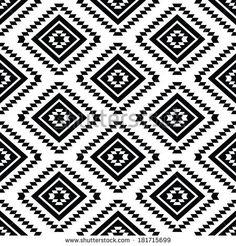 Tribal Seamless Pattern Aztec Black And White Background By RedKoala Geometric Print Tumblr