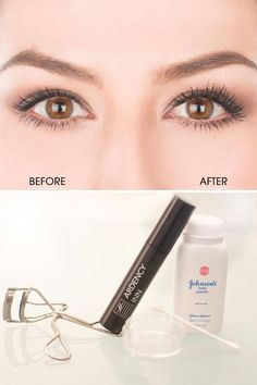 How to Get Faux-Looking Lashes Using Baby Powder - Baby Powder Mascara Trick