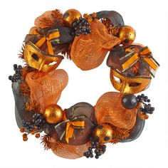 One of my favorite discoveries at Christmas Tree Shops andThat! - Novelty Halloween Wreath with Masks