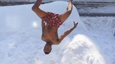Jumping out of windows into the snow