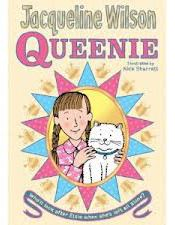 Queenie  Queenie is the brilliant new book from bestselling author Jacqueline Wilson. Set in 1953, it tells the story of Elsie Kettle, a girl who finds herself all alone when she is whisked away from her Nan to the children's ward of a hospital. Elsie finds it very hard but she finally meets some true friends including a beautiful white cat