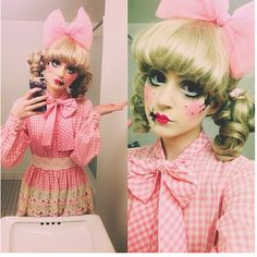 Porcelain Dolly Makeup with cracked dolly face! | See more about Porcelain…