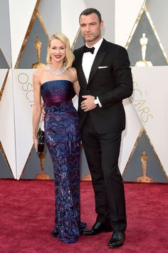 See All the Looks from the Oscars Red Carpet: Naomi Watts, Liev Schreiber