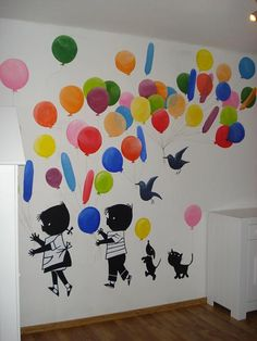 jip en janneke ballonnen - Google zoeken Classroom Themes, Schmidt, Future Baby, Baby Kids, Diy And Crafts, Kids Room, Street Art, Nursery, House Design