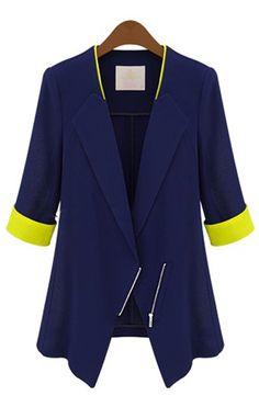 ICKL Chiffon zipper jacket