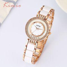 Dámské hodinky KIMIO Dámské hodinky Módní křišťál Dámské hodinky Dámské  hodinky Náramky Quartz Luxusní dámské hodinky eecac7b9e76