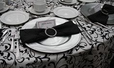 Napkin Rings and our silver beaded charger plates