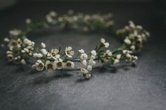 Baby's breath floral crown | Helen Lisk Photography