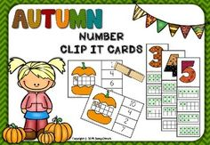 Autumn Number Clip Cards