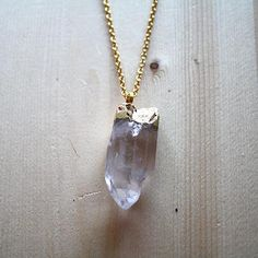 #WolfCircus Gold Plated Quartz Crystal