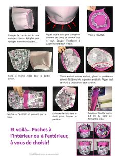 Tuto couture panière ronde multi poches Fabric Boxes, Couture Sewing, Sewing Accessories, Fabric Crafts, Arts And Crafts, Blog, Sewing Projects, Purses, Crochet