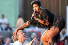 Fantasia Barrino performing for the first time at Los Angeles' summer rite of passage, the 36th annual Playboy Jazz Festival, June 14, 2004.