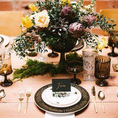 Table suggestion for autumn. Sugestão de mesa para o outono.