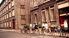 Cyclist touring group outside Electric House, Ipswich, Ipswich England, Electric House, Old Photographs, Norfolk, Over The Years, Touring, 1960s, Street View, Places