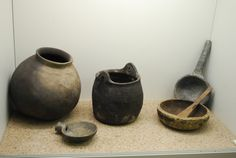 The Vikings of Bjornstad - Viking Museum Haithabu. Notice the pouring spout on the bowl at lower left