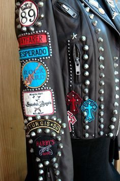Spitfire detailed leather jacket by Double D Ranch
