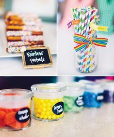 Rainbow 1st Birthday | Whimsical Backyard Rainbow First Birthday // Hostess with the Mostess ...