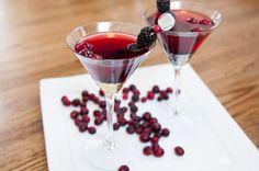 Blackberry Bourbon Martini - Red Stamp