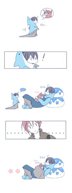 Drawn by JUSTIS ...  Free! - Iwatobi Swim Club, haruka nanase, haru nanase, haru, nanase, haruka, free!, iwatobi, rin matsuoka, matsuoka, rin, rinrin, haru-chan
