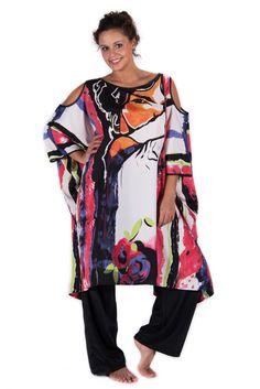 Ghungroo Caftano in viscosa vestibilit illimitata – Ganesha Shop Online -