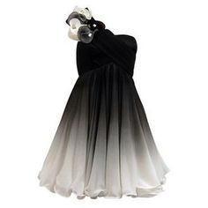 Silver and black ombre dress