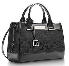 Calvin Klein Logo Jacquard City Center Zip Carryall Satchel Handbag Black - http://bags.bloggor.org/calvin-klein-logo-jacquard-city-center-zip-carryall-satchel-handbag-black/
