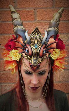 DRAGON HEADDRESS 1 by Priscillascreations.deviantart.com on @DeviantArt