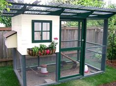 Raising chickens has gained a lot of popularity over the past few years. If you take proper care of your chickens, you will have fresh eggs regularly. You need a chicken coop to raise chickens properly. Use these chicken coop essentials so that you can. Walk In Chicken Coop, Cute Chicken Coops, Mobile Chicken Coop, Diy Chicken Coop Plans, Chicken Garden, Backyard Chicken Coops, Building A Chicken Coop, Chicken Runs, Chickens Backyard